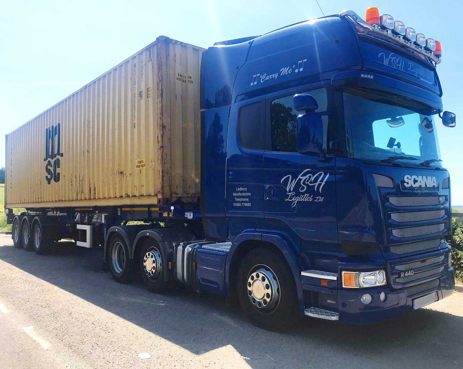 WSH out delivering containers this week